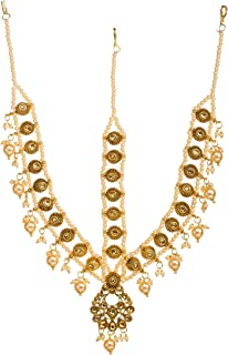 Bindhani Indian Bollywood Style Wedding Maang Tikka Bridal Gold Plated Matha Patti Traditional Mang Tika Jewellery Damini ...