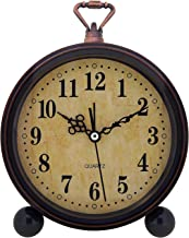 Konigswerk Vintage Retro Old Fashioned Decorative Quiet Non-ticking Sweep Second Hand Quartz Analog Large Numerals Desk Clock Battery Operated Loud Alarm (Classic)