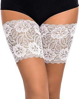 Cordón elástico anti-rozaduras de las mujeres El cordón elástico previene el roce Bandas del muslo Calcetines atractivos