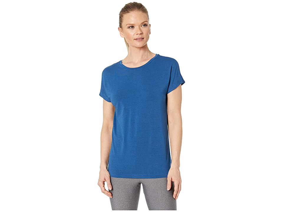 Reebok Workout Ready Mesh Panel Elements Tee (Bunker Blue) Women