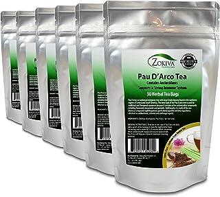 Pau D'Arco Tea 6-Pack 100% Pure (180 Premium Bags) All-Natural Immune System Support