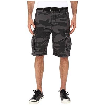 UNIONBAY Survivor Camo Cargo Short (Black Camo) Men