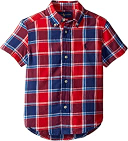 Cotton Madras Sport Shirt (Toddler)
