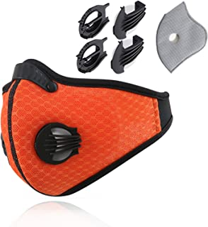 Novemkada Dust Mask - N99 Activated Carbon Dustproof Masks with Extra Filter Cotton Sheet and Valves for Woodworking, Anti Allergy, PM2.5, Running, Cycling, Outdoor Activities