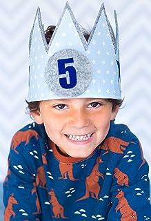 corona cumpleaños Der Wollprinz, corona para bebe y niño