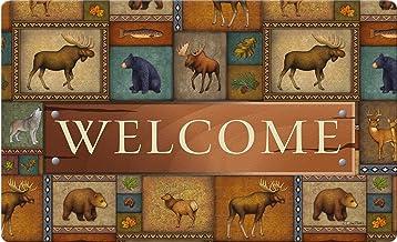 Toland Home Garden Quilted Wilderness Welcome 18 x 30 Inch Decorative Wildlife Floor Mat Bear Deer Doormat