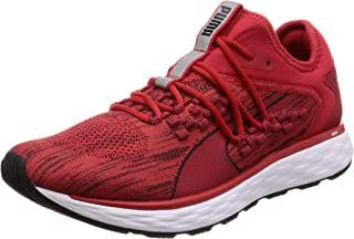 PUMA Men's Speed Fusefit Ribbon Red-blk Shoes, Ribbon Red Black