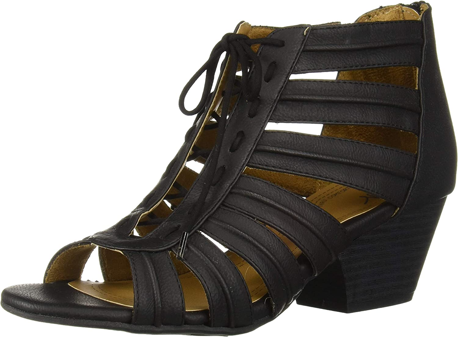 Natural Soul Womens Dante Heeled Sandal