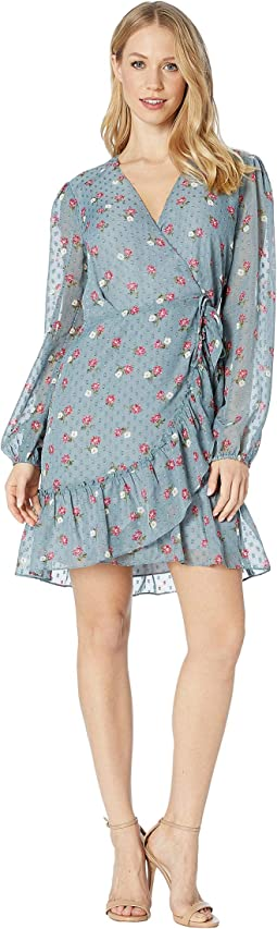 Eloise Wrap Long Sleeve Mini Dress