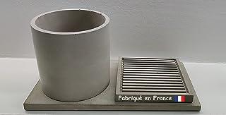 Ensemble 3 Accessoires de Salle Bain ● Fabriqués en France ● Fait Main en Béton Fibré à Aix en Provence ● Kit SDB Design M...