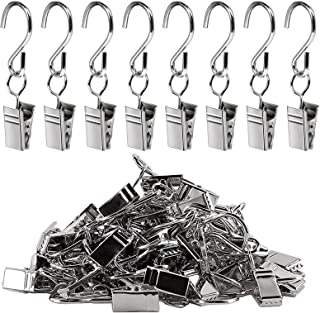 60pcs Party Light Hanger, Teenitor Gutter Hangers for Lights, Curtain Clips Hanging Clamp Hooks Hanger Clips for Curtain P...
