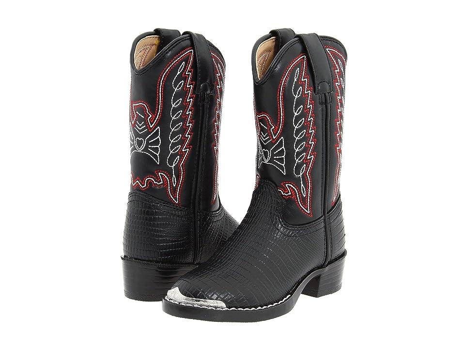Durango Kids BT840 (Toddler/Little Kid) (Black Lizard Print) Cowboy Boots