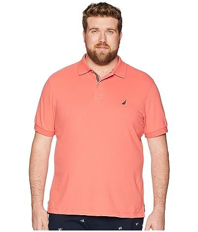 Nautica Big & Tall Big Tall Short Sleeve Solid Deck Shirt (Dreamy Coral) Men