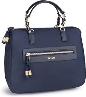 Tous Women's Efim Brunock Chain Handbag, Blue (Marino 595810119), 28x20x13 centimeters (W x H x L) Talla Única