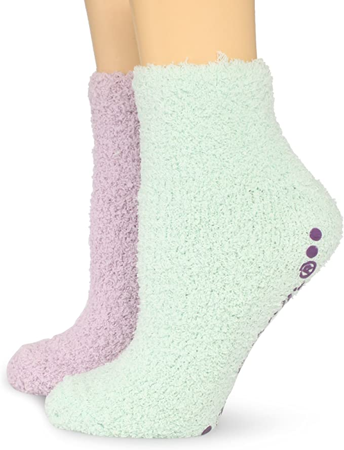 Scholls Womens 2 Pack Soothing Spa Low Cut Lavender Shoe Size: 4-10 Vitamin E Socks with Silicone Treads Dr Black//Pink