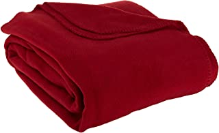 LCM Home Fashions, Inc. Supreme Full/Queen Fleece Blanket, Brick