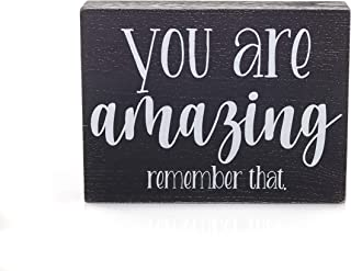 Bella Rosa Home You are Amazing - Positive Quotes Wall Decor- Small Inspirational Signs
