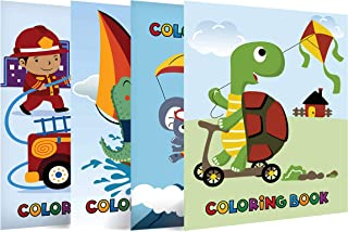 """Neliblu Epic Coloring Books for Kids - Pack of 4 - 8""""x 11"""" Coloring Books with Animated Cartoons in Favorite Character Fig..."""