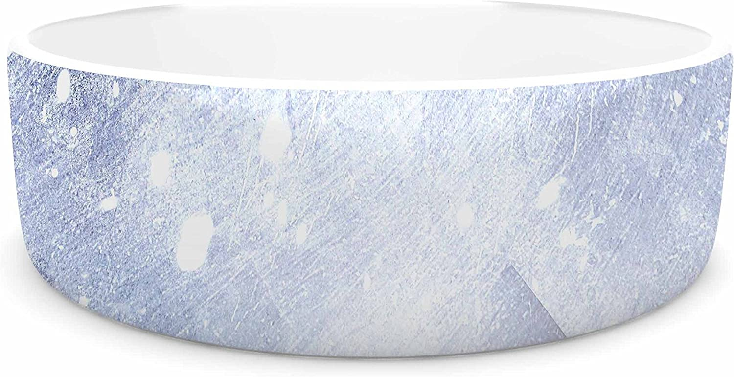 KESS InHouse Ulf Harstedt Even Mountains Get Cold  bluee White Pet Bowl, 7