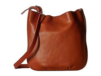 Shinola Detroit Mini Birdy Hobo Luxe Grain SS (Bourbon) Hobo Handbags