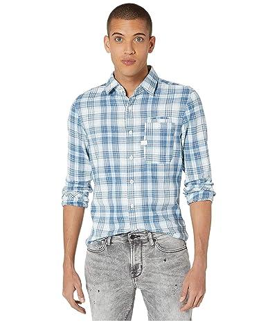 G-Star Bristum One-Pocket Slim Shirt (Milk/Indigo Check) Men