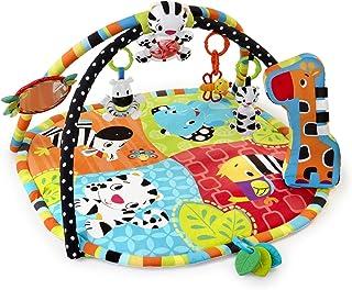Bright Starts, Tapis d'Eveil Safari Spots & Stripes avec Arche de Jeu, Lumières, Mélodies, Miroirs et Jouets pour Bébés