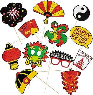 Chinese New Year Photo Stick Props