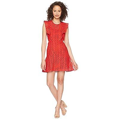 Bardot Kira Frill Dress (Lipstick) Women
