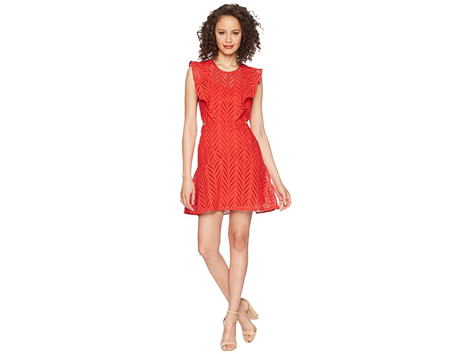 Bardot Kira Frill Dress (Lipstick) Women