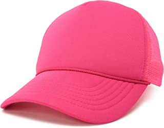 Trucker Cap Mesh Hat with Solid Colors and Adjustable Strap and Small Braid