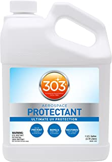 303 (30320) UV Protectant Gallon for Vinyl, Plastic, Rubber, Fiberglass, Leather & More – Dust and Dirt Repellant - Non-Toxic, Matte Finish, 128 Fl. oz.