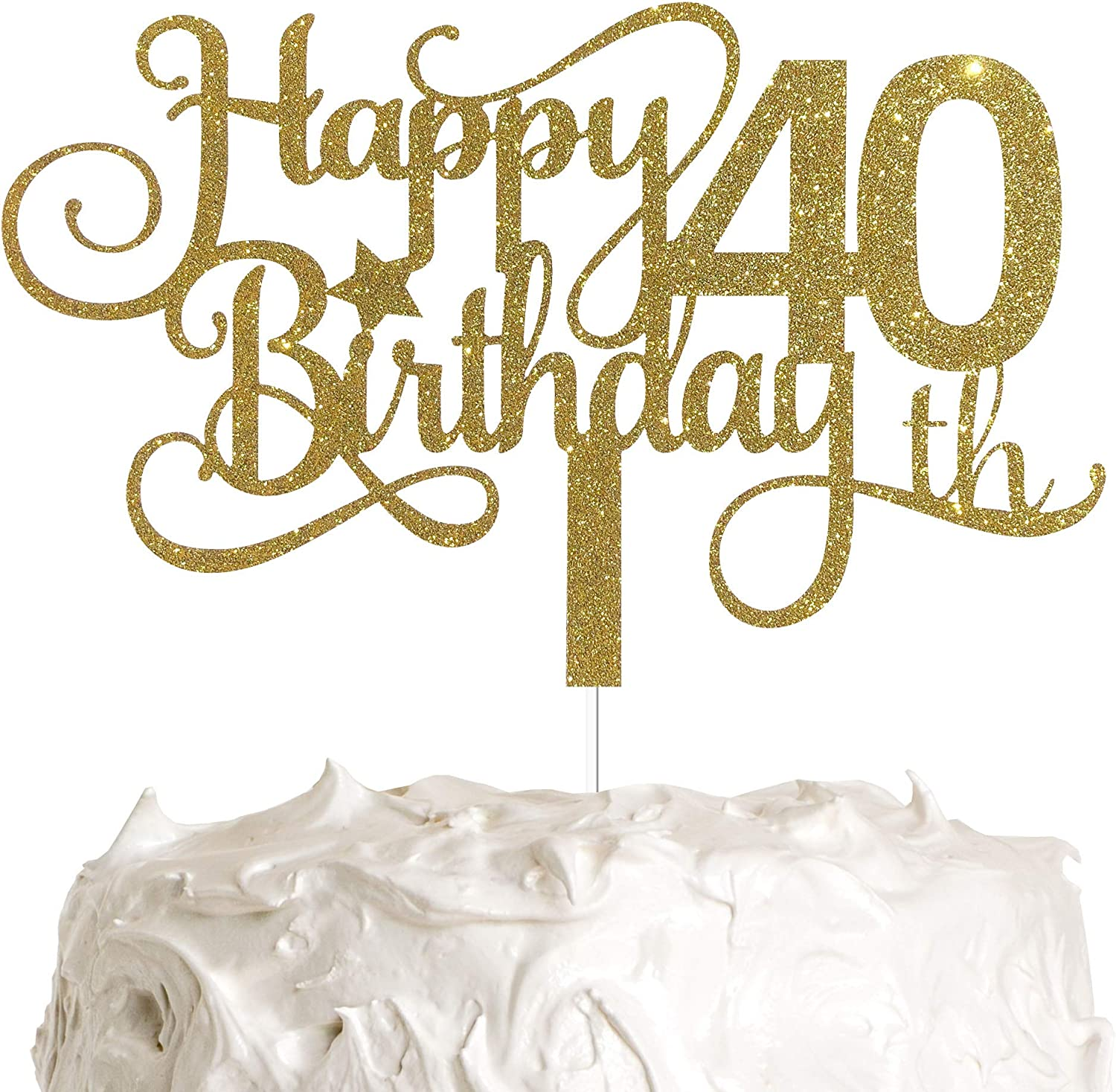 ALPHA Fort Worth Mall K GG 40th Birthday Inventory cleanup selling sale Cake Happy T Topper