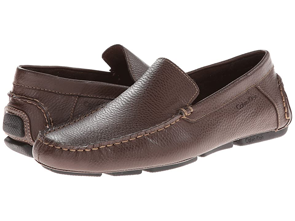 Calvin Klein Menton (Med Brown Tumbled Leather) Men