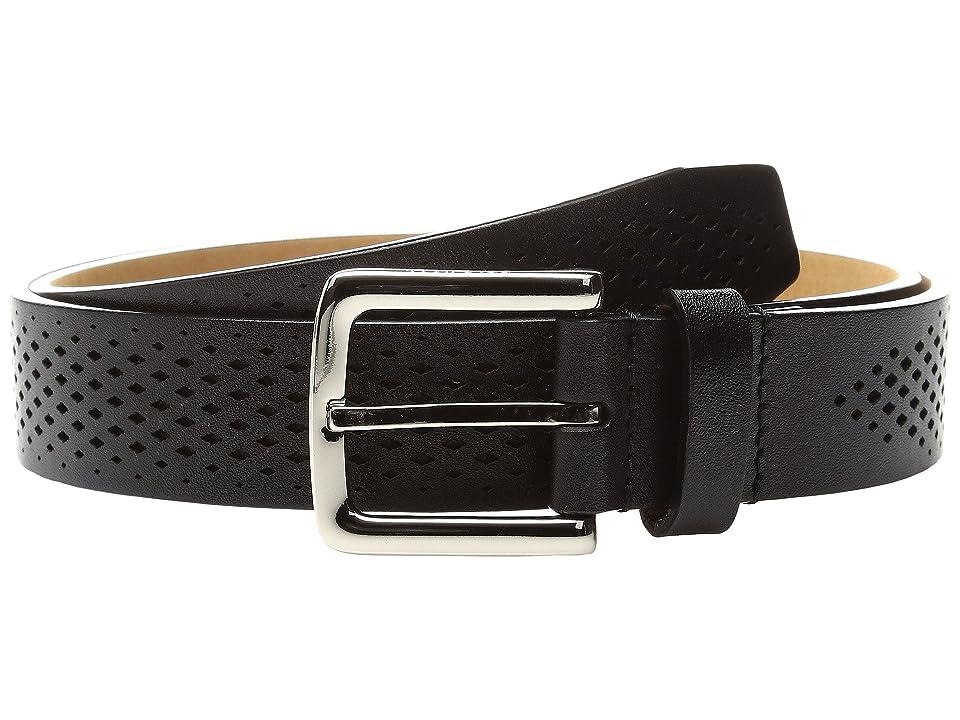 Cole Haan Washington Grand 32mm Laser Perf Belt (Black) Men
