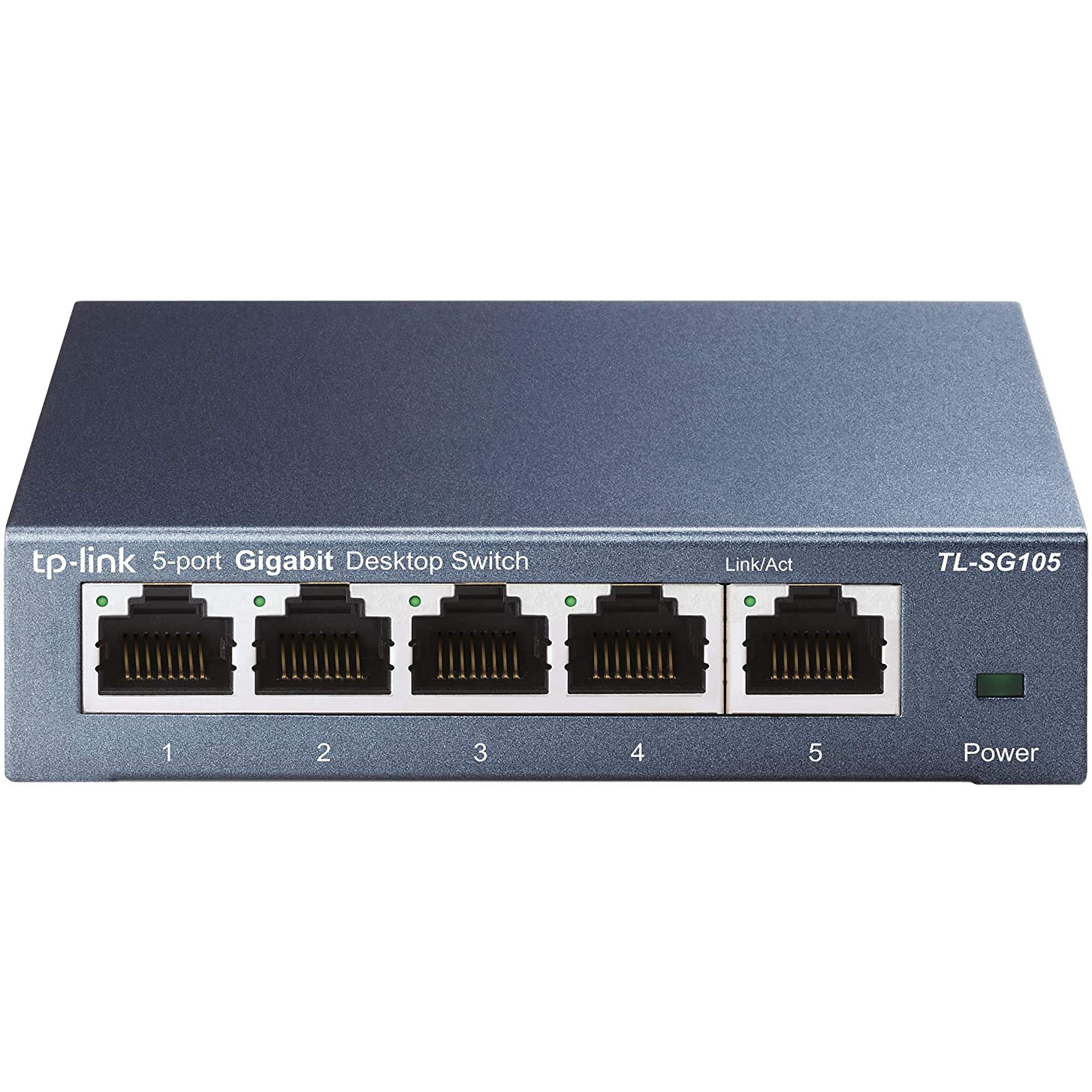 初心者押し下げる【Amazon.co.jp限定】TP-Link 5ポート スイッチングハブ 10/100/1000Mbps ギガビット 金属筺体 設定不要 ライフタイム保証 TL-SG105V4.0