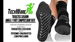 Calcetines de pie de compresi/ón de Corte bajo 6 Pares Firmrock Calcetines de compresi/ón para Mujeres y Hombres Fascitis Plantar con Soporte para Arco Mejores para Deportes atl/éticos