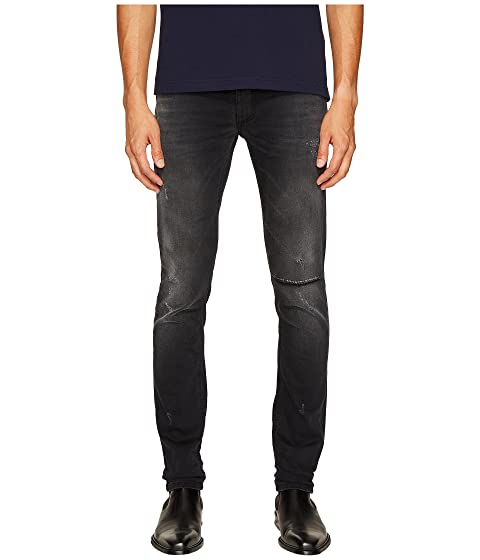 Black Grey Distressed Jeans Fit in Jeans Versace Slim E0qvnZ