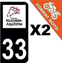 supstick 2 STICKERS AUTOCOLLANT PLAQUE IMMATRICULATION DEPT 33 Nouvelle-Aquitaine