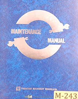 Mazak Slant Turn 50N, NC lathe, Maintenance and Parts List Manual