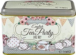New English Teas - Earl Grey Tea 40 Tea Bags - English Tea Party Tin