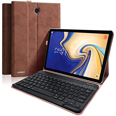 Funda Con Teclado Para Samsung Galaxy Tab S4 De 10 5 Pulgadas 2018 Sm T830 T835 Y T837 Funda Con Soporte De Protección Completa Con Teclado Bluetooth Inalámbrico Desmontable Magnéticamente Computers Accessories