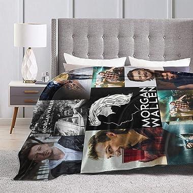 M/o#r gan Blanket Wa&l/l&e#n Flannel Fleece Plush Blanket Air Conditioning Blanket All Seasons Plush Fuzzy Lightweigh