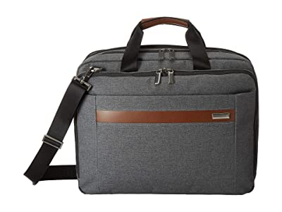 Briggs & Riley Kinzie Street Medium Expandable Brief (Grey) Briefcase Bags
