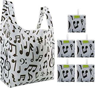 Reusable Grocery Bags Shopping Foldable Tote Ripstop 50LBS Machine Washable W15*H25.3*D4.7 F-04