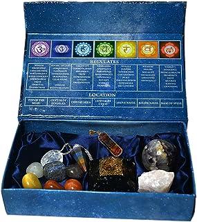 KACHVI Crystals and Healing Stones Set 7 Chakra Tumbled Stones Crystal Healing Kit of 12 Pieces Meditation Spiritual Cryst...