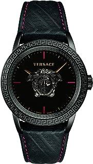 Montre Homme Versace Palazzo Empire Noir Cuir Noir Acier 43mm VERD00218
