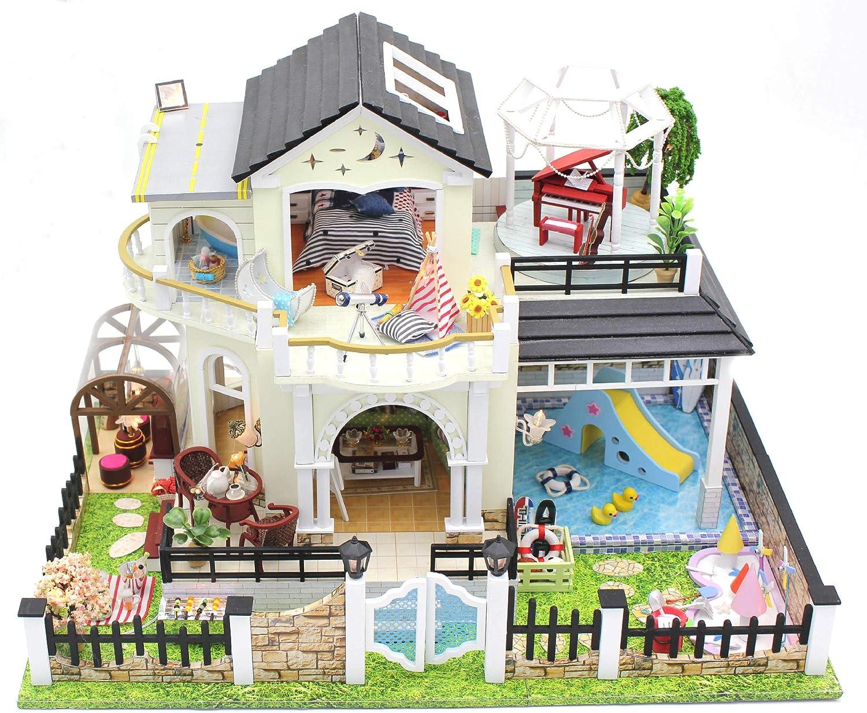 TMSE DIY Haus Blaume Guten Mond Runden Handgemachten Haus Modell montiert große Villa B07K1FK2KN  Optimaler Preis    | Kostengünstig