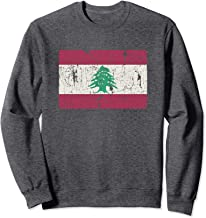 Vintage Lebanese Flag Of Lebanon Souvenir Gift Men Women Sweatshirt