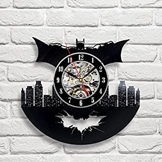 Batman Emblem Vinyl Wall Clock-Unique Home Decor That Will Suit to Any Interior - Handmade Gift for Birthday Anniversary or Any Other Occasion Gift for Him Gift for Her