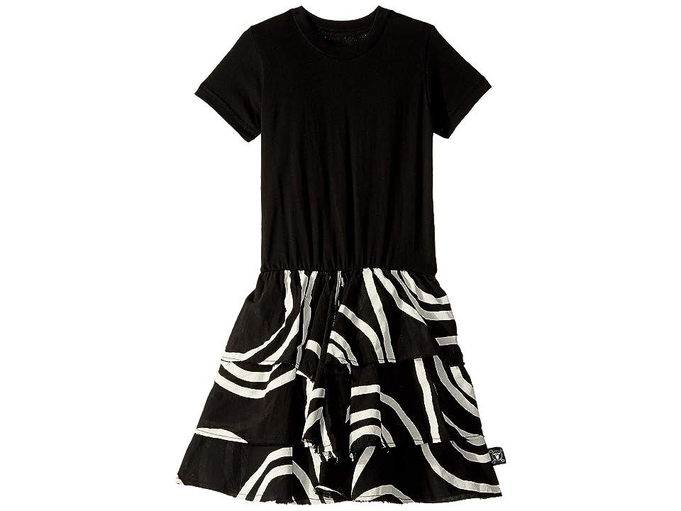 Nununu Layered Circle Dress (Toddler/Little Kids) (Black) Girl